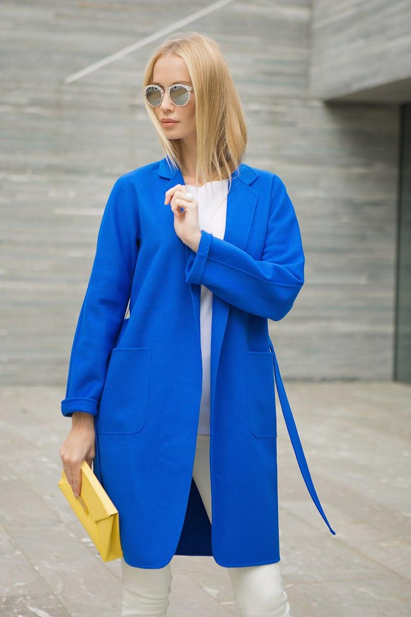 Tatiana Korsakova, Татьяна Корсакова wearing blue coat