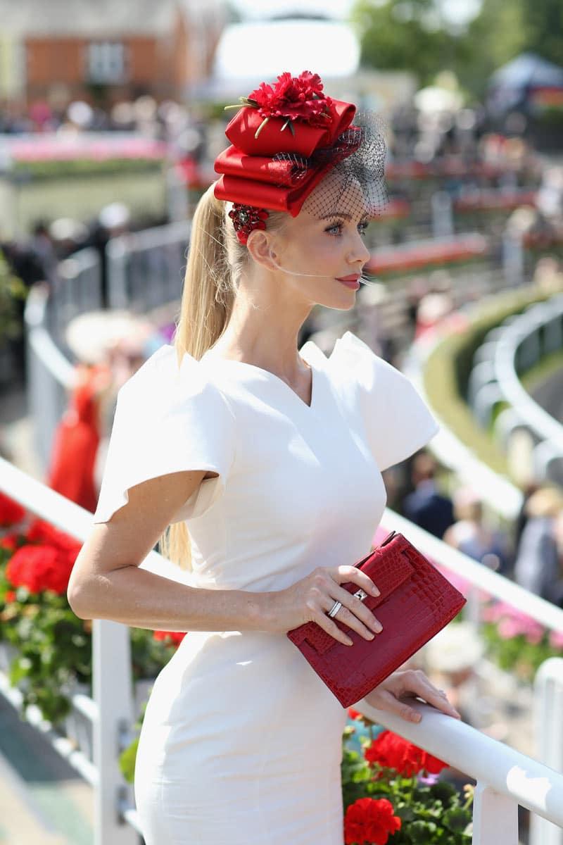 Tatiana Korsakova enjoying the day at Royal Ascot
