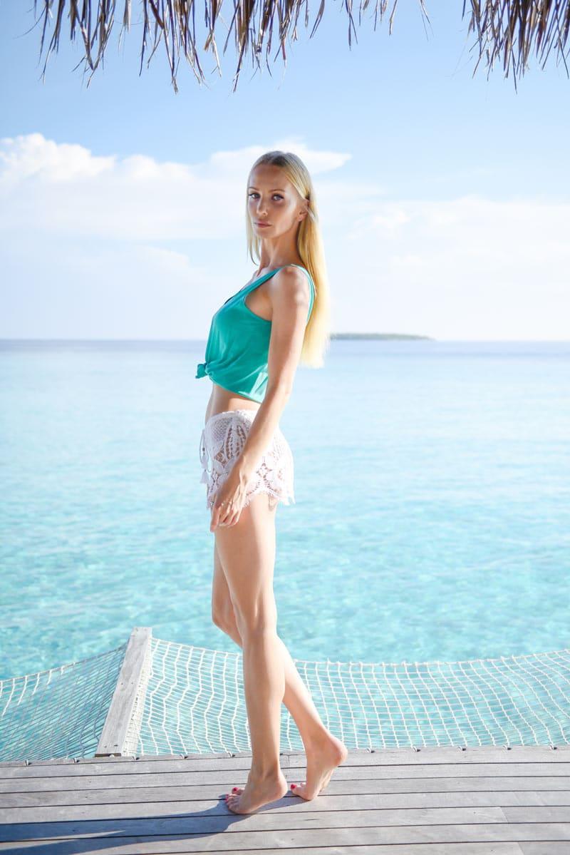 Tatiana Korsakova in Maldives