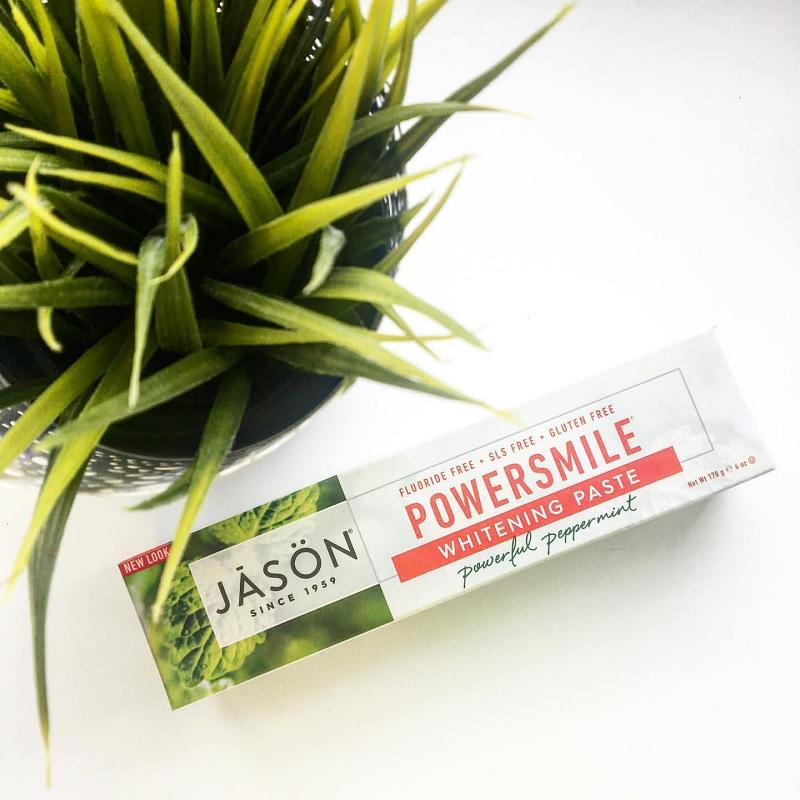 Jason Natural, PowerSmile Whitening Paste, Powerful Peppermint