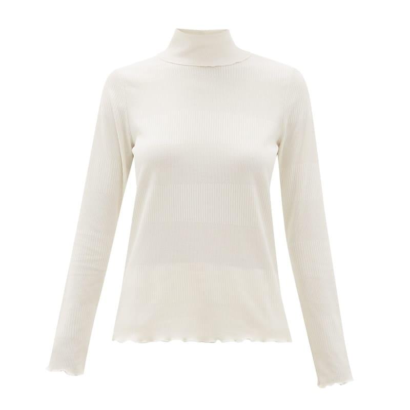 A.P.C. Angele roll-neck stripe-jacquard sweater