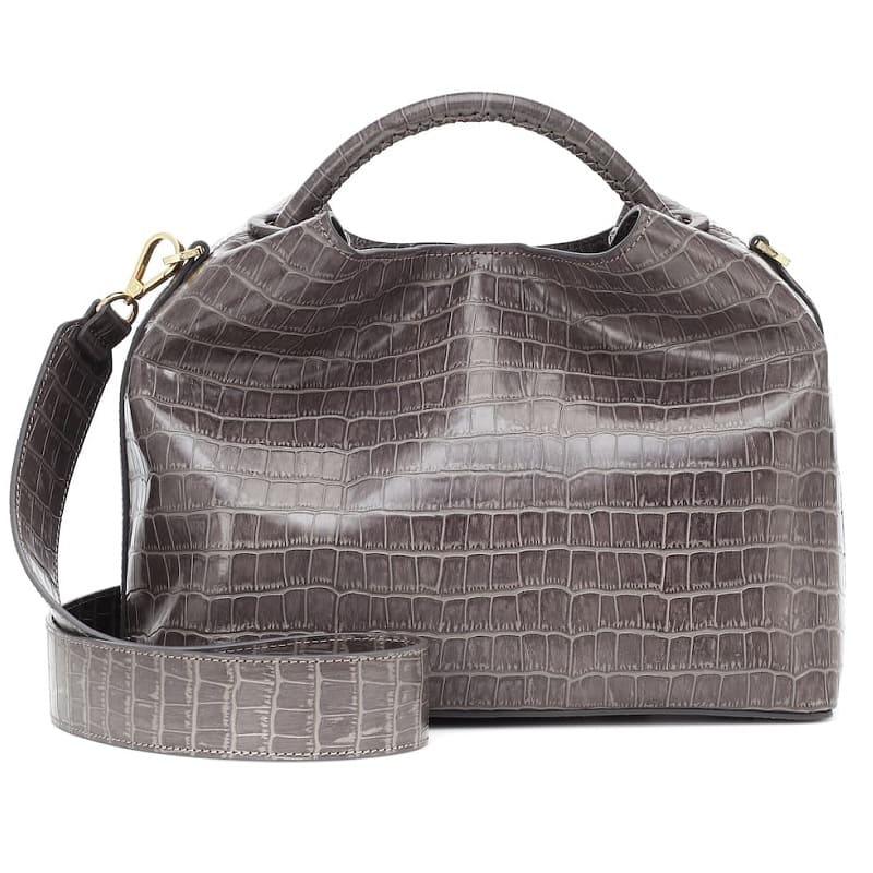 ELLEME Raisin croc-effect shoulder bag