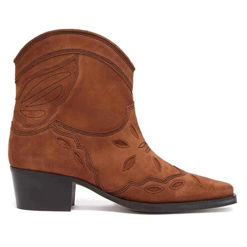 GANNI Texas suede cowboy boots