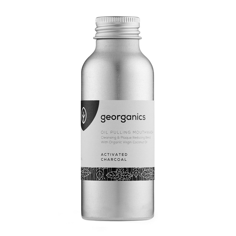 средство для полоскания рта маслом Georganics Oil Pulling Mouthwash Activated Charcoal
