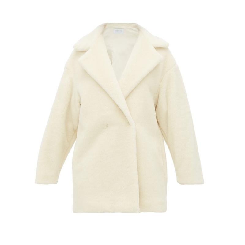 HARRIS WHARF LONDON Teddy alpaca-blend coat