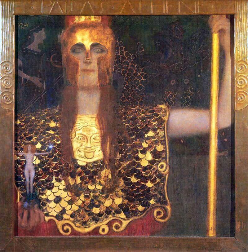 Pallas Athene by Gustav Klimt сильные героини книг