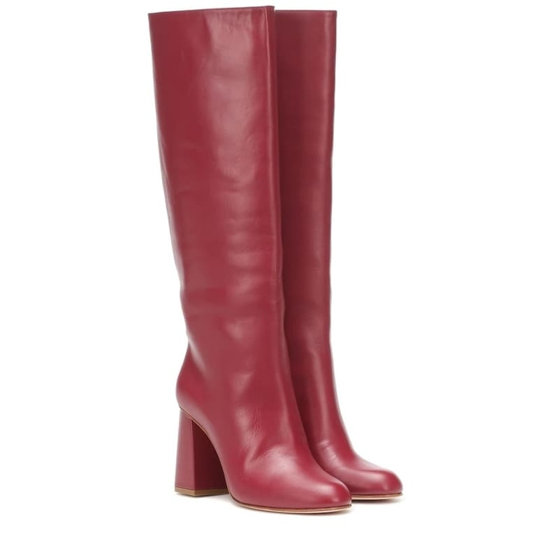 RED (V) RED (V) leather knee-high boots