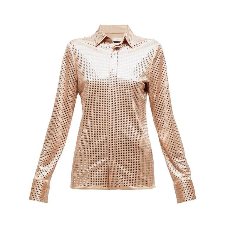 BOTTEGA VENETA Mirrored crepe shirt