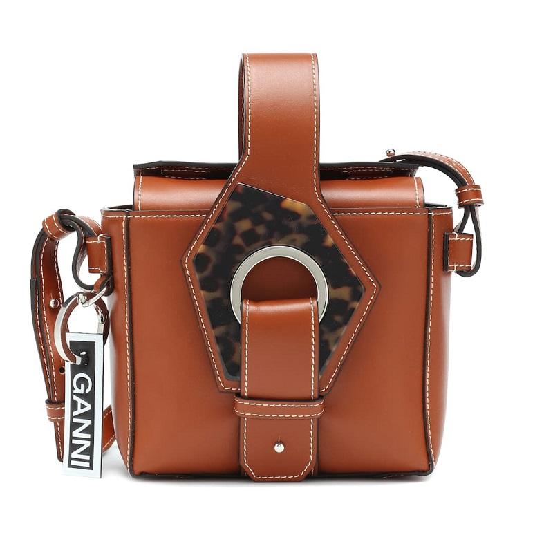 GANNI Micro leather tote
