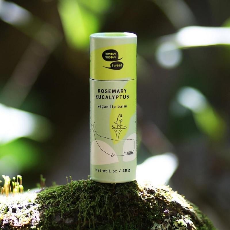 MEOW MEOW TWEET Rosemary Eucalyptus Vegan Lip Balm