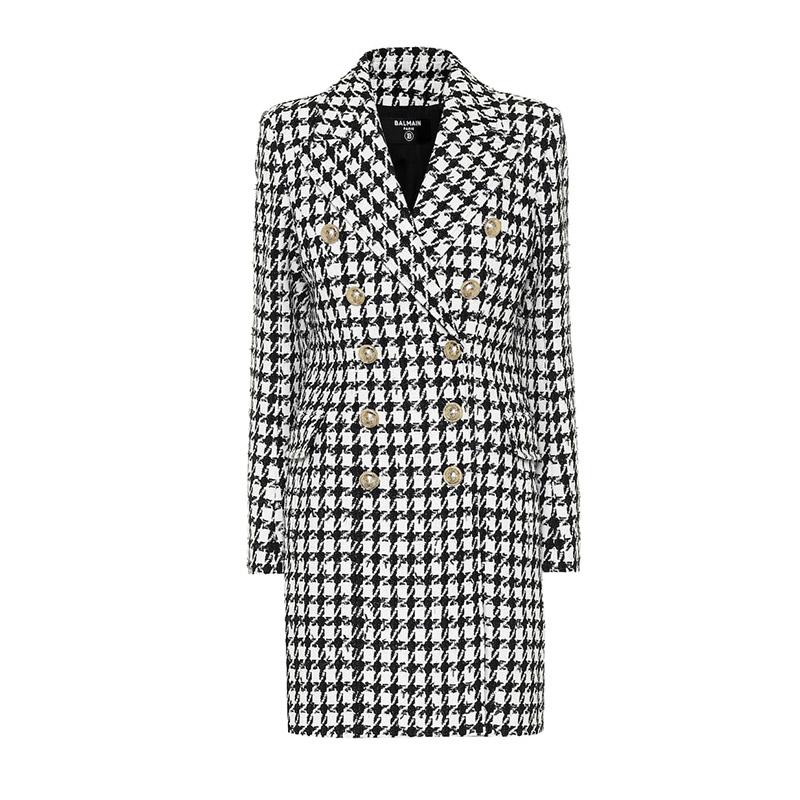 BALMAIN cotton blend coat