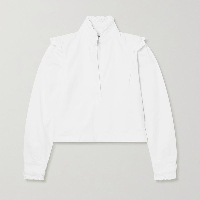 BY MALENE BIRGER + NET SUSTAIN Breonia denim blouse