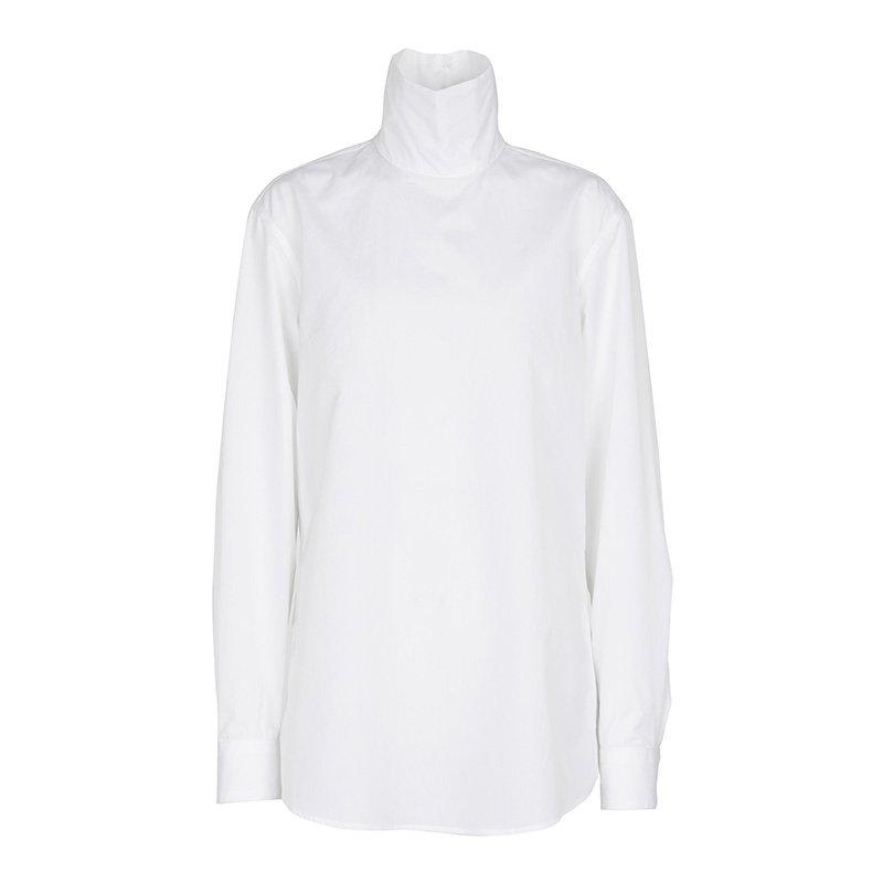 белая рубашка DRIES VAN NOTEN Cotton poplin top
