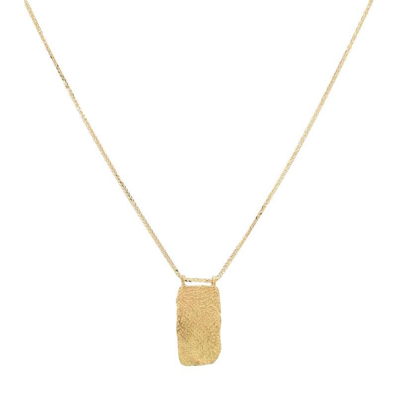 ELHANATI Roxy Mezuzah Tag 18kt gold necklace