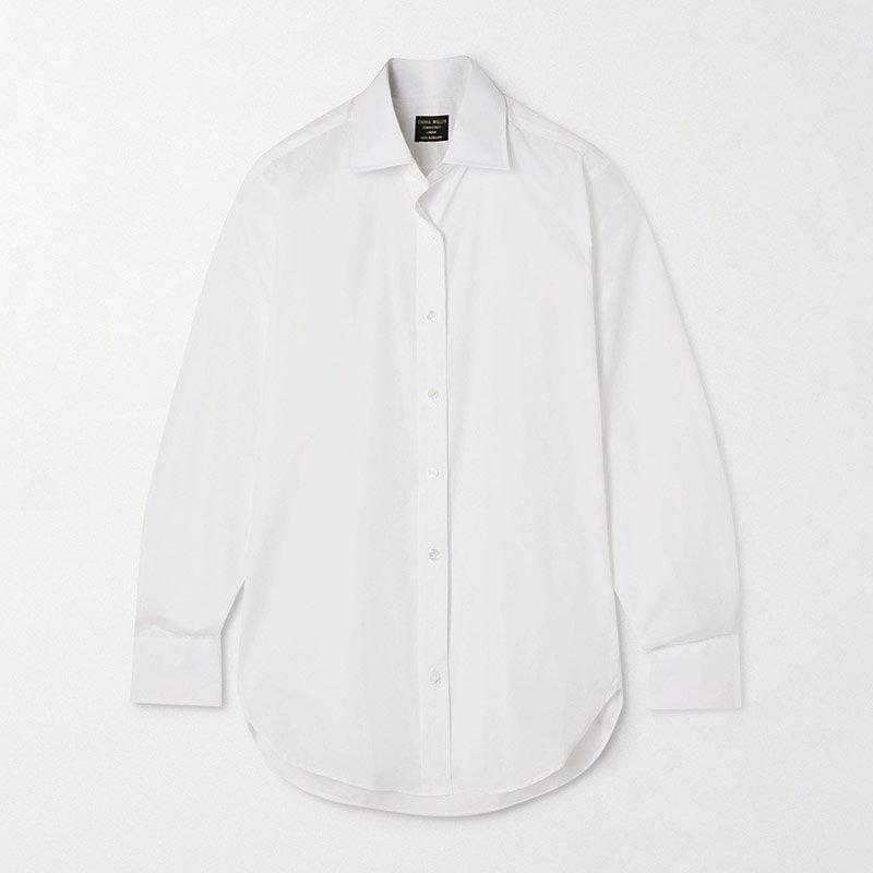 белая рубашка из поплина EMMA WILLIS Jermyn Street cotton-poplin shirt