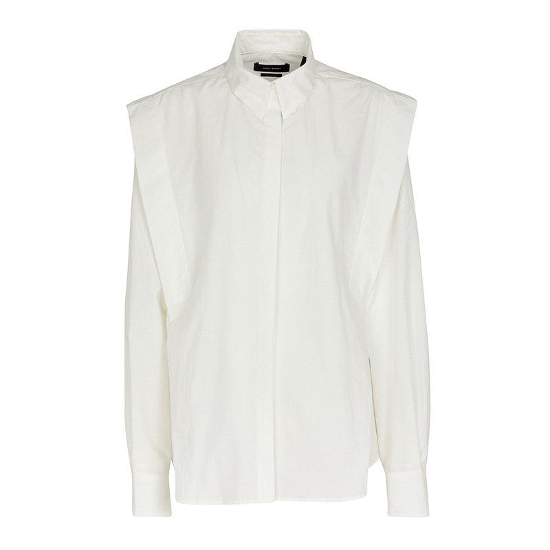 белая рубашка ISABEL MARANT Ralki cotton and linen shirt