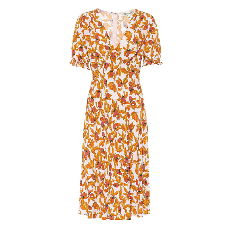 платье DIANE VON FURSTENBERG Idris floral crêpe midi dress