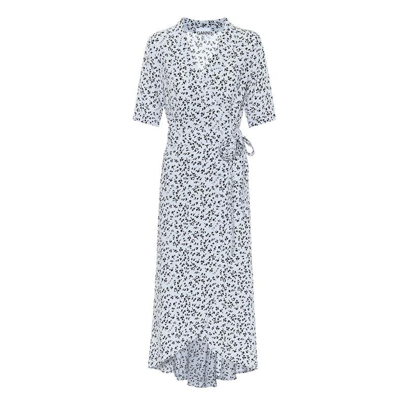 Платье с запахом GANNI