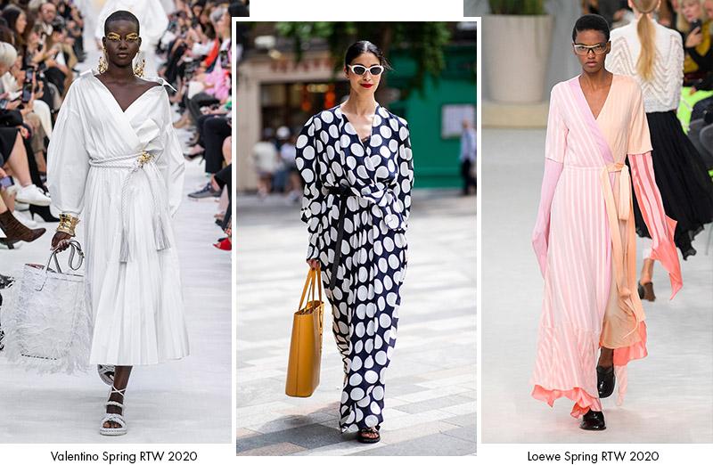 Платья с запахом: сезон Весна 2020
