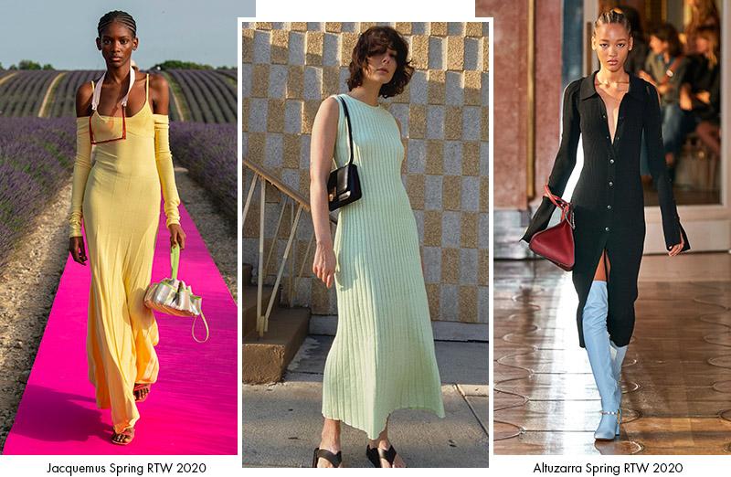 Трикотажные платья: сезон Весна 2020