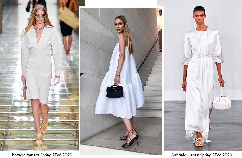 Белые платья сезон Весна 2020