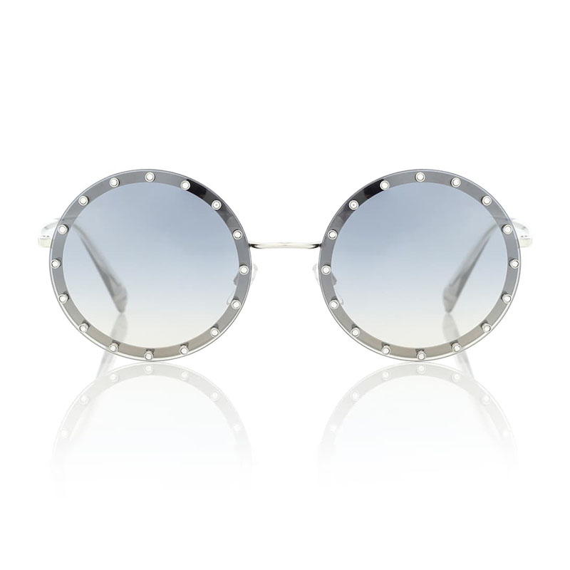 Солнцезащитные очки VALENTINO Embellished round sunglasses