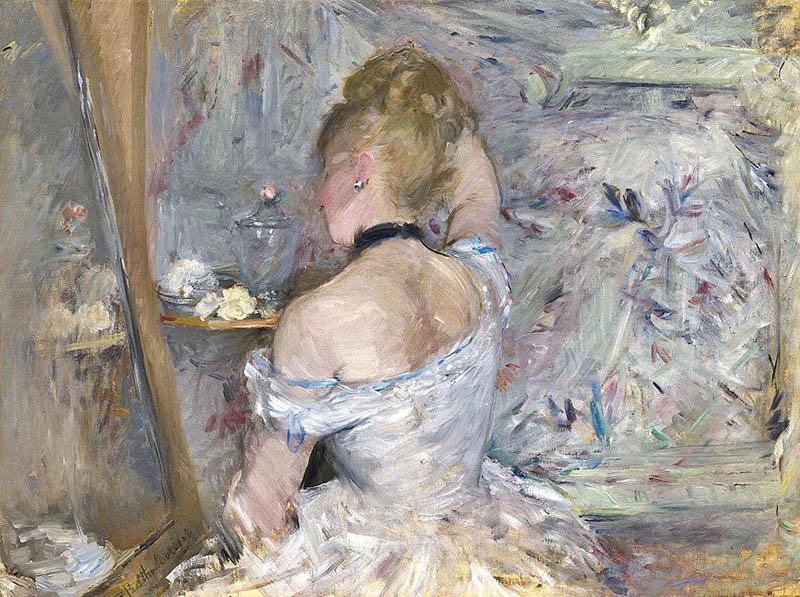 "Berthe Morisot ""Woman at her Toilette"""