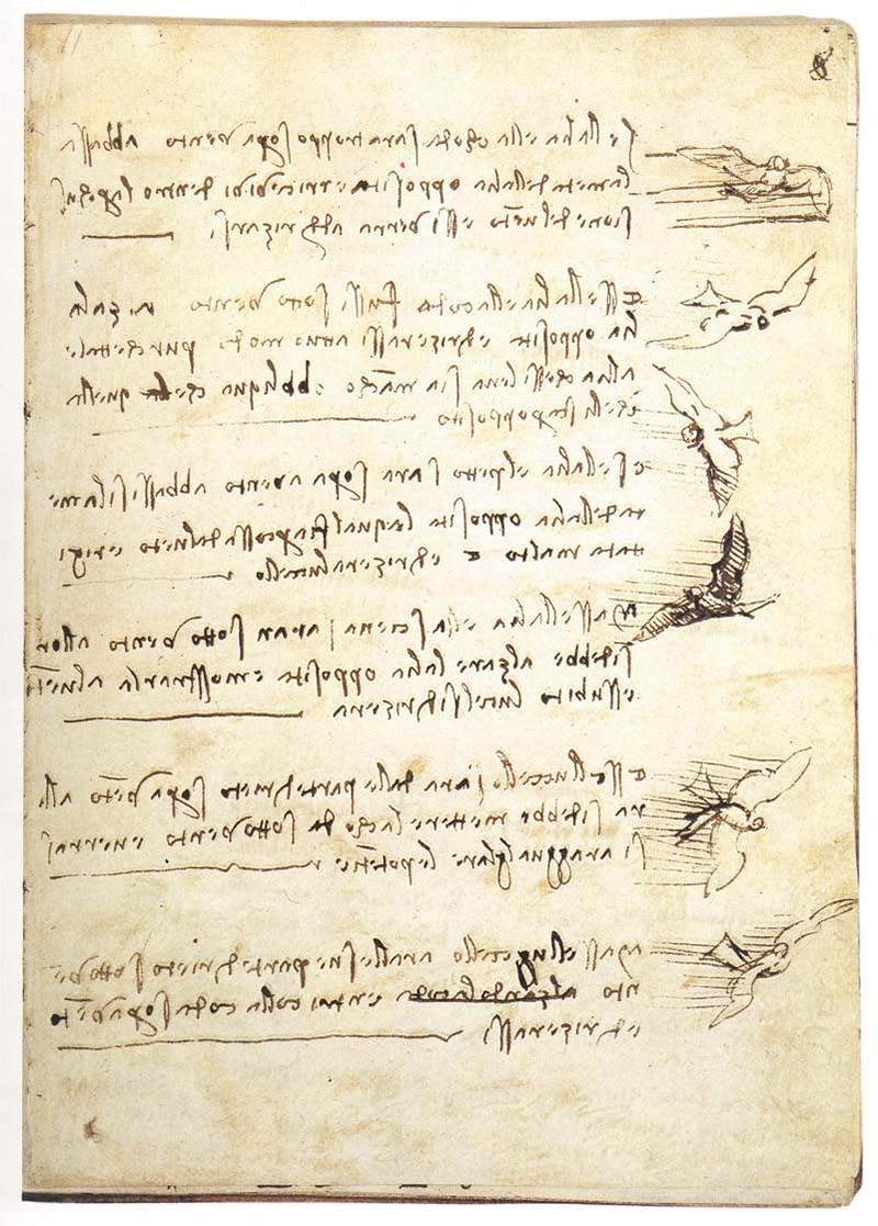 "Леонардо да Винчи ""Кодекс о полёте птиц"""
