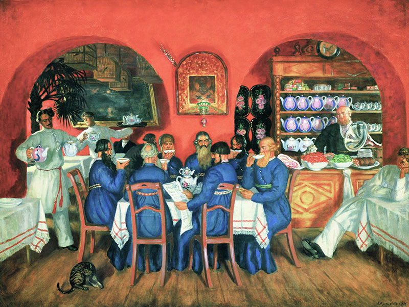 "Борис Кустодиев ""Московский трактир"", 1916"