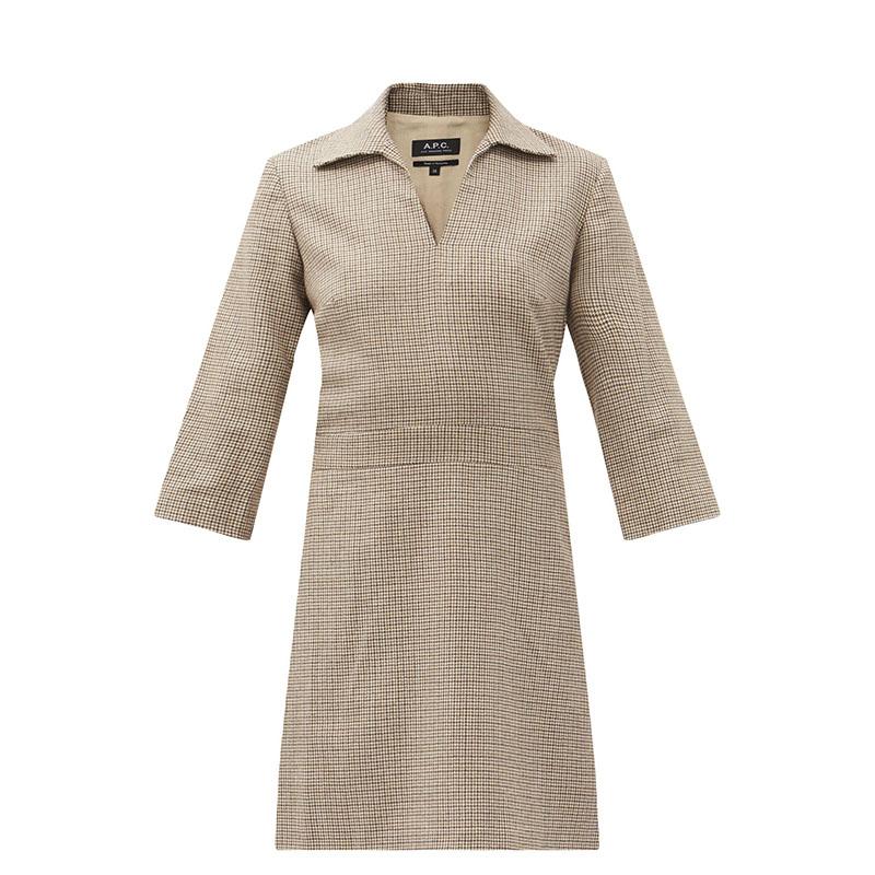 Шерстяное платье в клетку A.P.C.