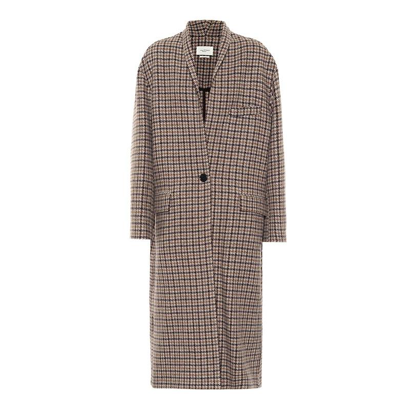 ISABEL MARANT, ÉTOILE Henol houndstooth wool coat