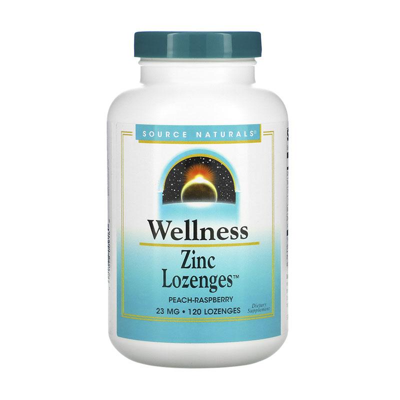 Source Naturals Wellness Zinc Lozenges Peach Raspberry