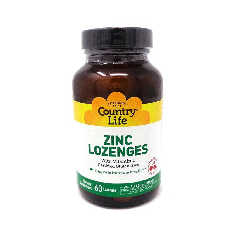 County Life Zinc Lozenges with Vitamin C Cherry