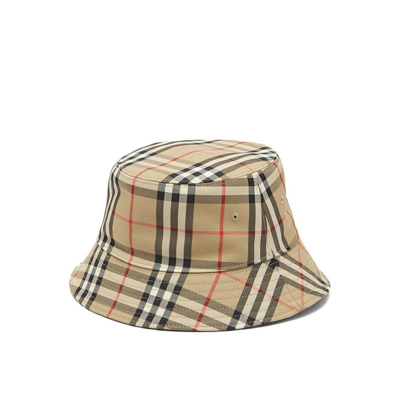 BURBERRY Vintage-check cotton-blend bucket hat