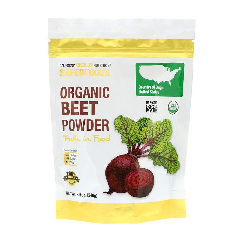 Порошок свёклы California Gold Nutrition Superfoods Organic Beet Powder