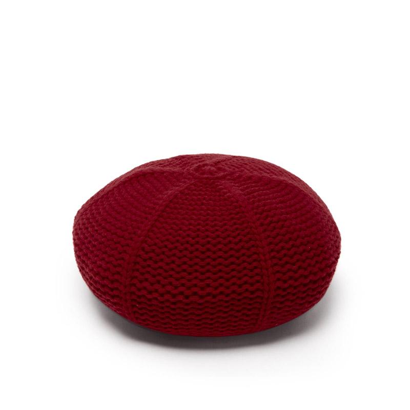 GUCCI Garter-stitched wool beret