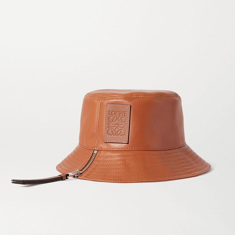 LOEWE Appliquéd leather bucket hat