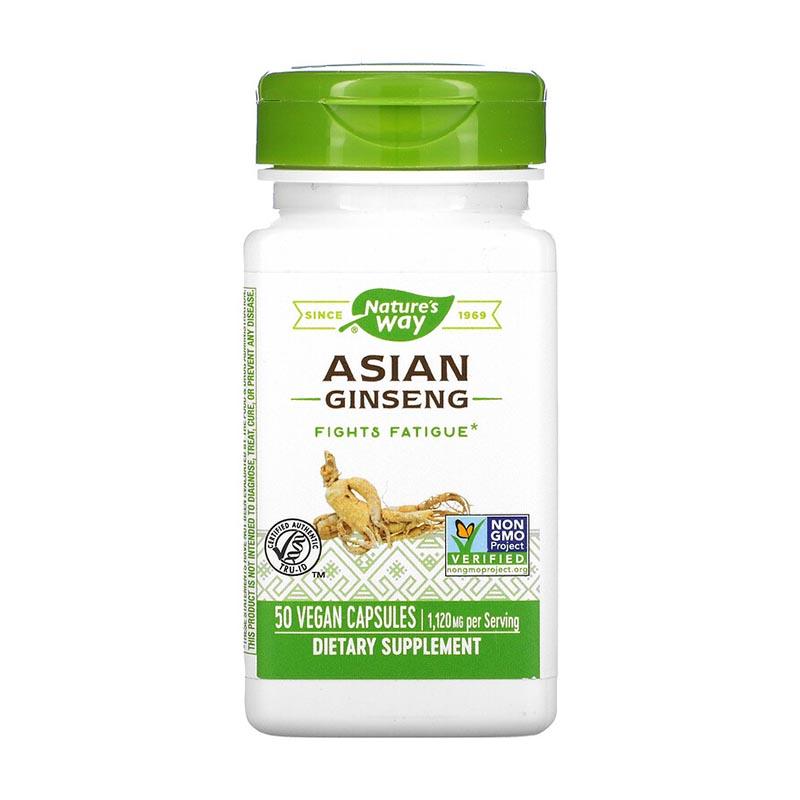 женьшень в капсулах Nature's Way Asian Ginseng