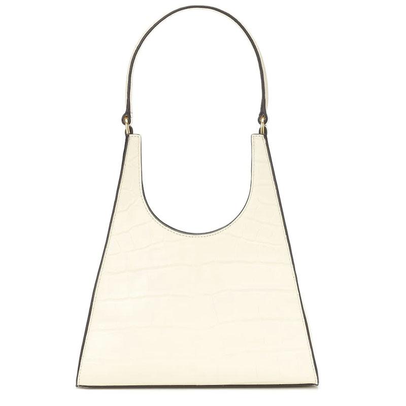STAUD Rey embossed leather shoulder bag