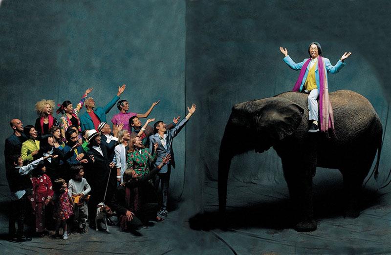 Kenzo, Elephant, Paris, 1992