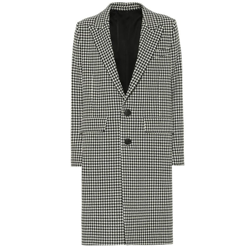 AMI PARIS Houndstooth wool-blend coat