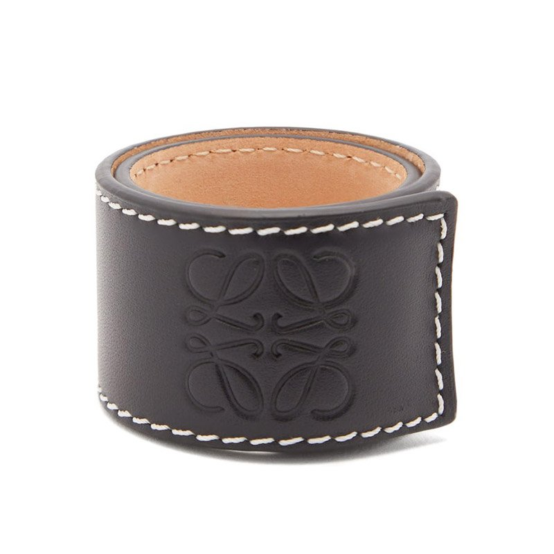 LOEWE Anagram-logo leather snap bracelet