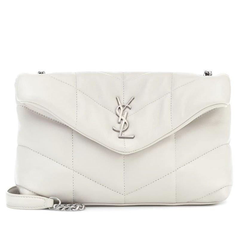 SAINT LAURENT Loulou Puffer Mini leather shoulder bag
