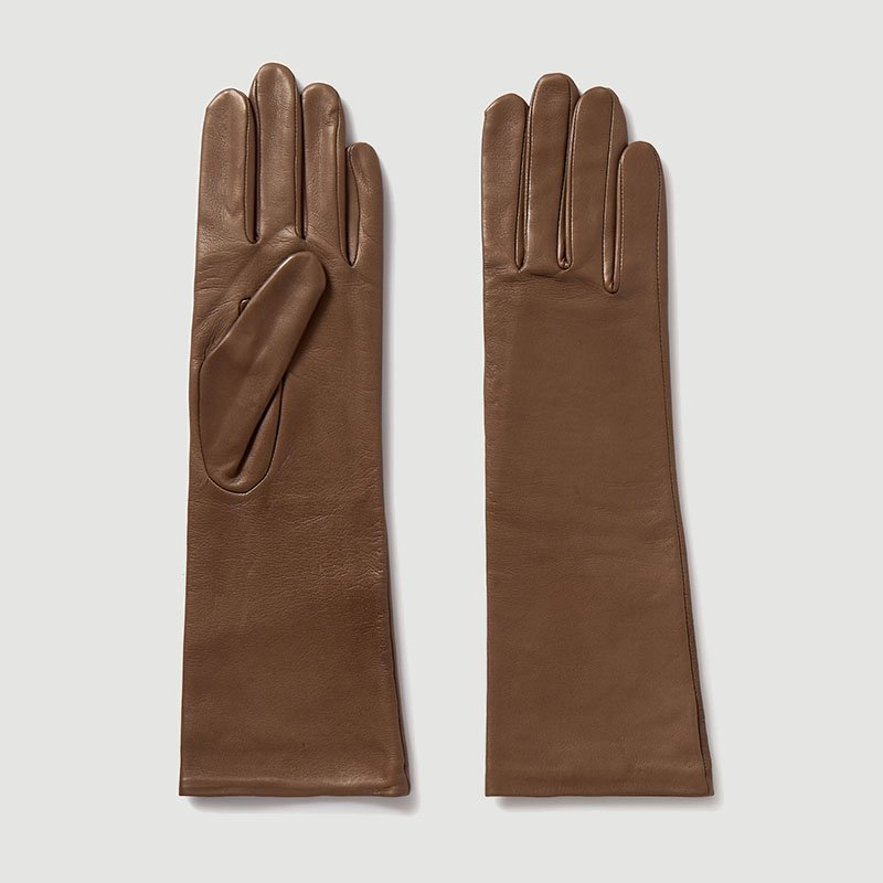 AGNELLE Celia leather gloves