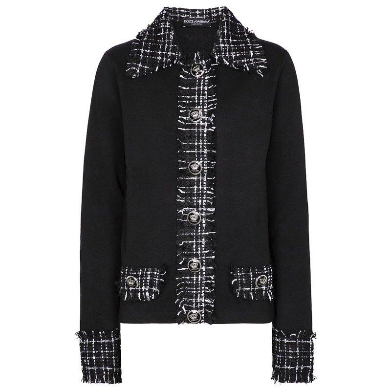 DOLCE & GABBANA Tweed wool-blend jacket