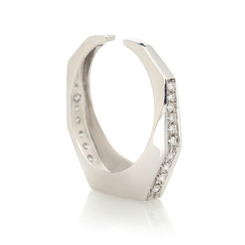 Boucle d'oreille EÉRA Sabrina en or blanc 18 ct avec diamants