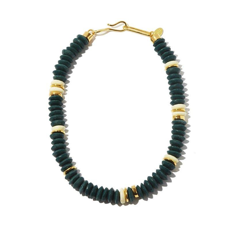 Collier plaqué or et perles de verre Laguna LIZZIE FORTUNATO