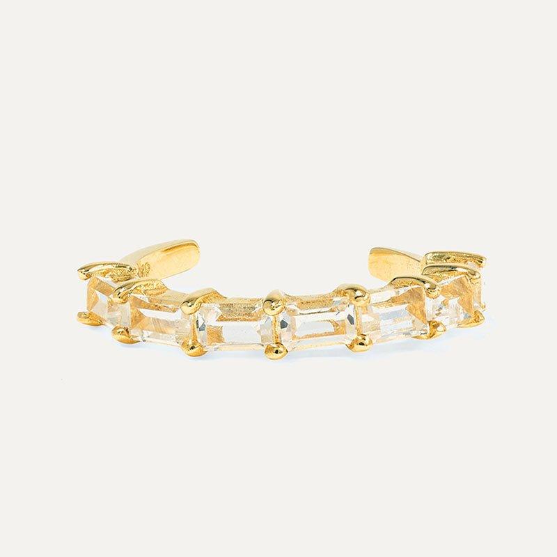 STONE AND STRAND Gold topaz ear cuff