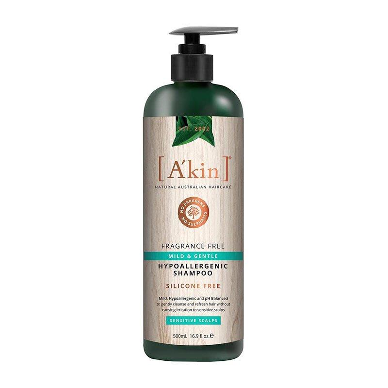 A'Kin Fragrance Free Mild & Gentle Hypoallergenic Shampoo