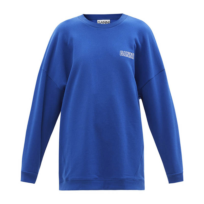GANNI Software organic cotton-blend jersey sweatshirt